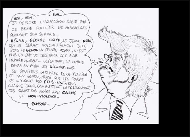 Geoege Floyd Trump caricature